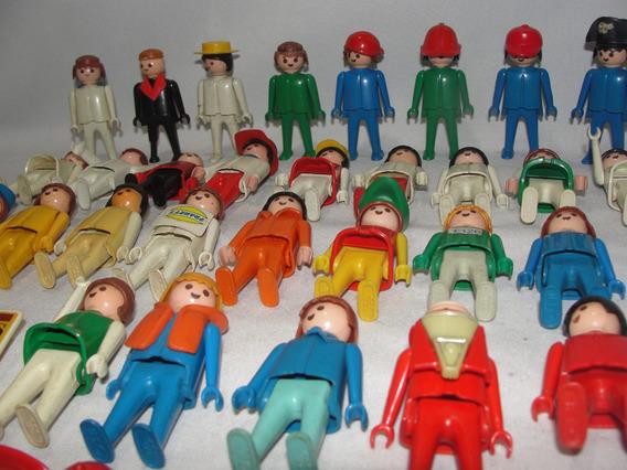 Lote Com 30 Bonecos Playmobil Trol Anos 70