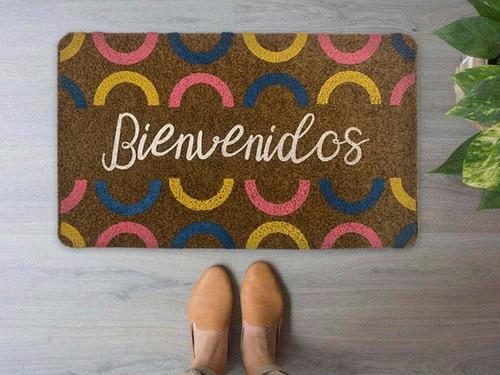 Imagen 1 de 3 de Tapetes Decorativos De Entrada 2 Piezas  35x55 Cm