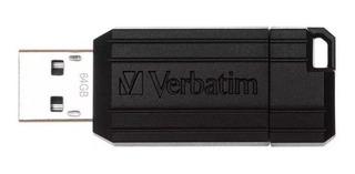 Pendrive Verbatim Pinstripe 64gb Black