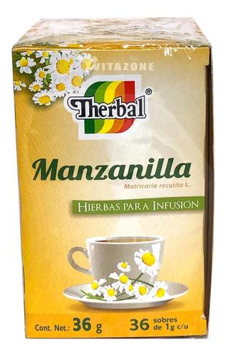 Imagen 1 de 4 de Té Manzanilla 36 Sobres Therbal
