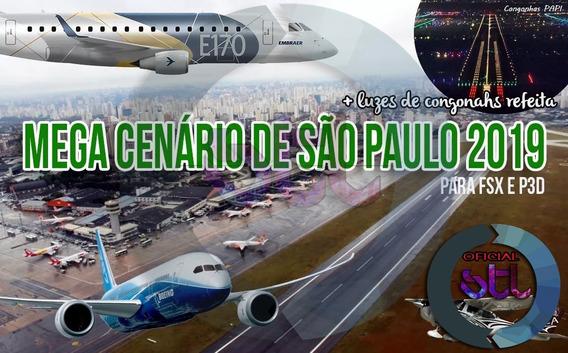 Mega Cenário São Paulo - Para Fsx E Prepar3d / Stl