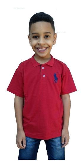 Kit Com 6 Camisa Polo Infantil Masculina Menino Frete Gratis