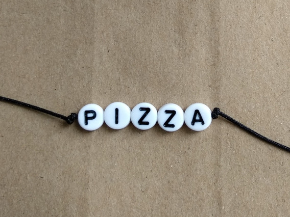 Pulsera Pizza Handmade Hecho A Mano Envío Gratis Personaliza
