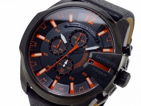 Relógio J619 Diesel Dz4291 Couro Preto Original