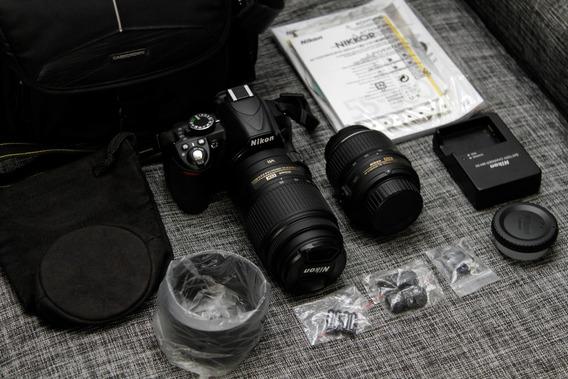 Nikon D3100 Con Dos Lentes