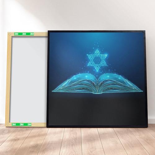 Imagem 1 de 4 de Quadro Decorativo 40x40 - Torá Judaico M1
