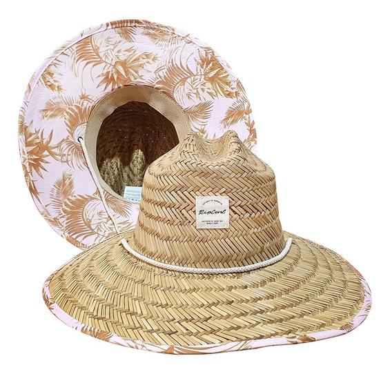 Chapéu De Palha Rip Curl Feminino Estampado Original