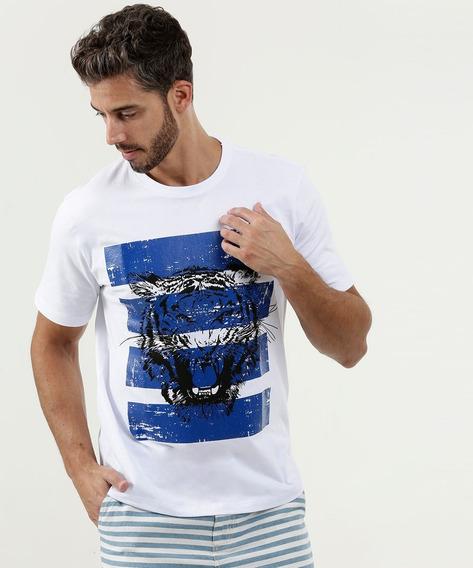 Camiseta Masculina Estampa Tigre Manga Curta Mr