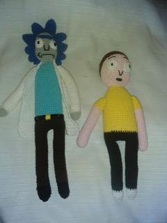 Muñecos Tejidos Rick & Morty