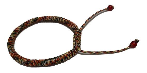 Pulsera Tibetana Hecha A Mano Buena Suerte Multicolor Ed Esp