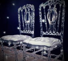 Alquiler Sillas Cristal Tiffany Royal Chiavari Napoleon