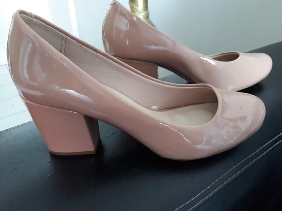 Sapato De Salto Cor Nude