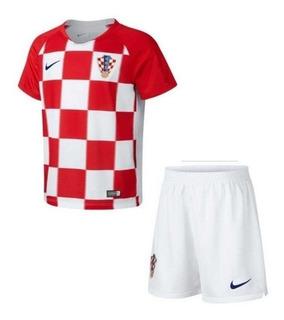 Kit Infantil Ou Camisa Da Croácia Com Personalização E Frete Grátis Para Todo Brasil - Leia O Anuncio Antes Da Compra