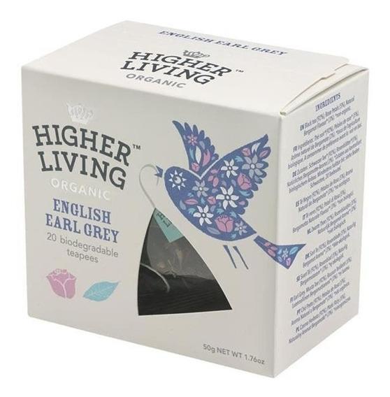 Té Orgánico English Earl Grey Higher Living 20 Sobres Bags