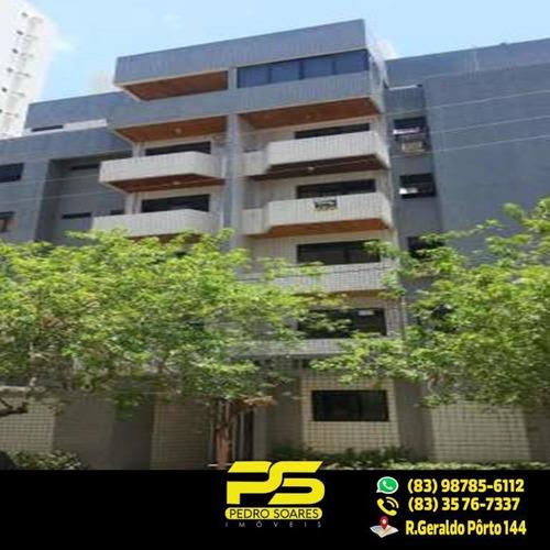 (oportunidade) Apartamento No Bessa Com 124m² E 3 Suítes - Ap1989