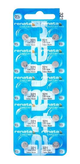 Pilhas Baterias 321, Relógio 1.55v Renata Sr616s Original 10