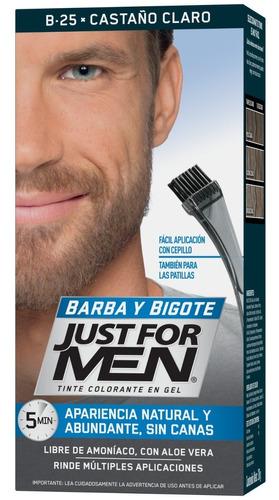 Tintura Gel Just For Men Para Barba Y Bigote Castaño Claro