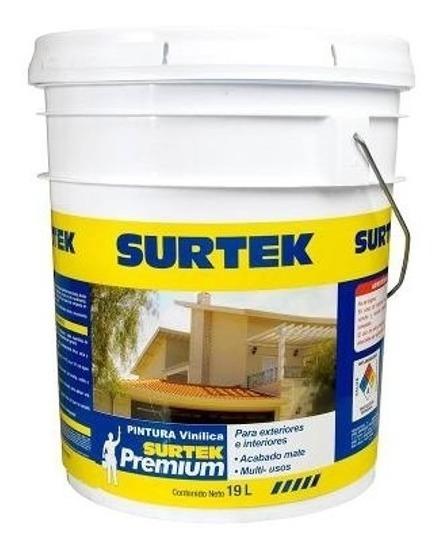 Surtek-pintura Vinílica Premium Blanca 19lt*sp10400