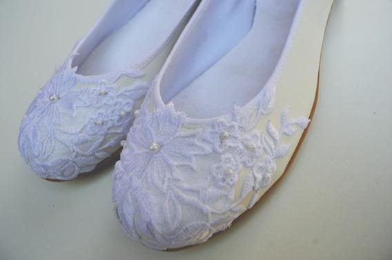 Zapatos Ballerinas Chatitas Fiesta Novia Casamiento Comunión