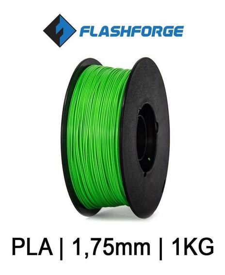 Filamento Pla Flashforge Impressão 3d 1,75mm 1kg Cor Verde