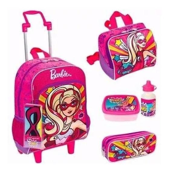 Kit Mochila Infantil Barbie Princesa Tam G Original + Brinde