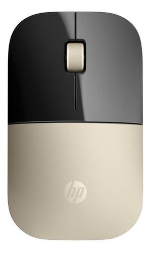 Mouse inalámbrico HP  Z3700 dorado