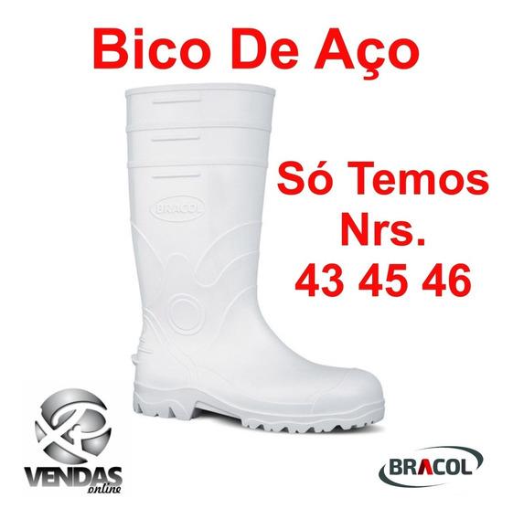 Botina Bota Bico De Aço Pvc Epi Cano Longo C/ Forro Ca 28286