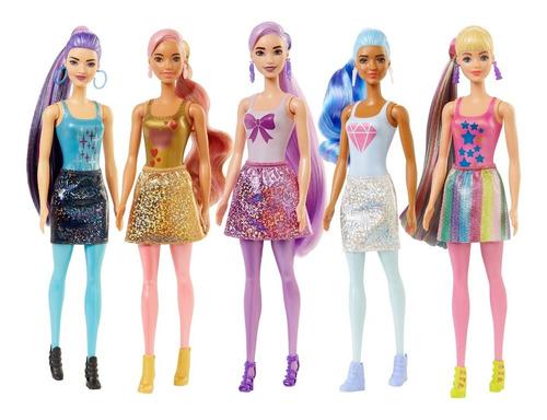 Imagen 1 de 9 de Barbie Fashionista Color Reveal Brillante