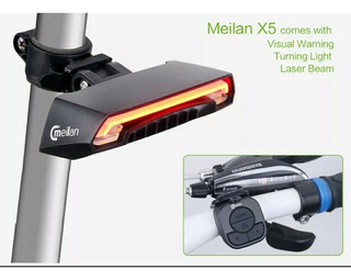 Meilan X5 Led + Laser Para Bike, Com Indicador De Direção.