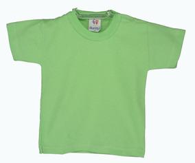 Camiseta Branca Colorida Escola P/ Estamparia Kit C/ 6pçs.