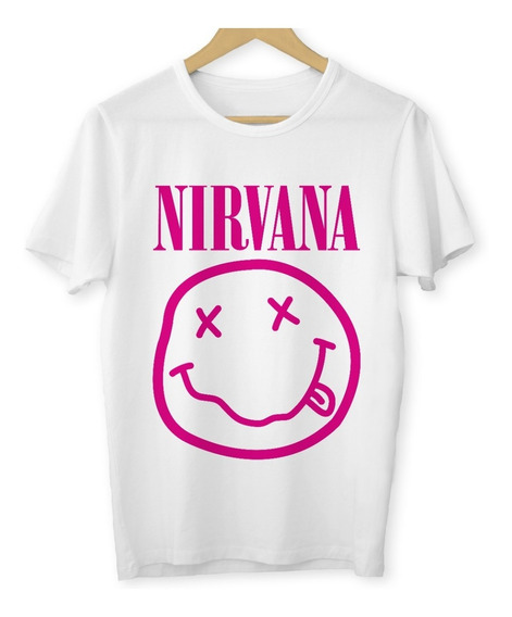 Camiseta Nirvana Baby Look Banda Grunge Camisa Rock