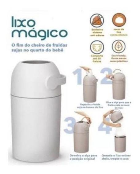 Lixo Mágico Anti Odor Fraldas Bebe Lixeira Bloqueia Odor