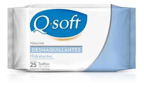 Imagen 1 de 5 de Toallitas Desmaquillantes Q-soft Hidratantes (12 Paquetes)