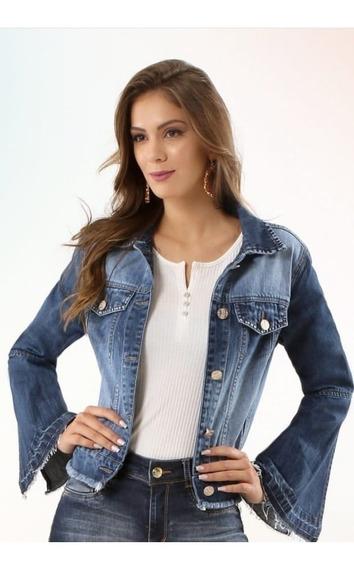 Jaqueta Jeans Feminina Flare