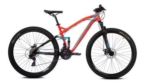 Imagen 1 de 2 de Mountain bike Mercurio Doble Suspensión Expert DH  2020 R29 frenos de disco mecánico color naranja
