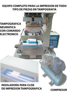Tampografica Neumatica Con Compresor, Insoladora Y Base Full