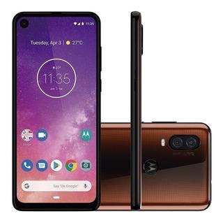 Smartphone Motorola One Vision 128gb Azul - 4g 4gb Ra