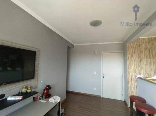 Apartamento Com 2 Dormitórios À Venda, 47 M² Por R$ 152.000 - Parque Sicília - Campolim - Votorantim/sp - Ap1419