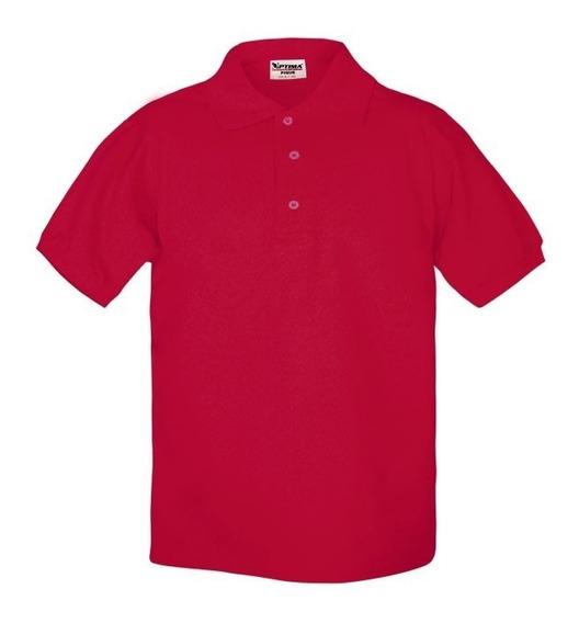 Playera Polo Caballero Optima Rojo