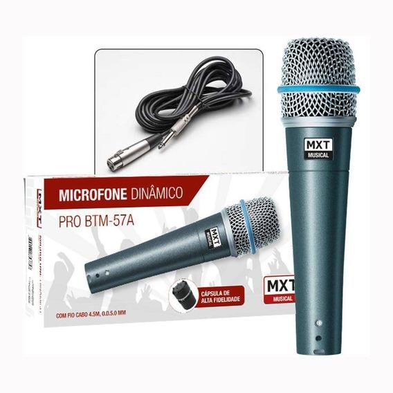 Kit 3 Microfones Profissional Mxt Btm-57 A + 3 Cachimbos