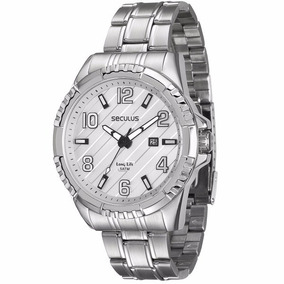 Relógio Seculus Masculino Analógico Prata - 28584gosvna1