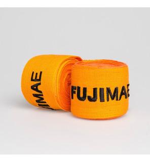 Bandagem Elástica Laranja Para Muay Thai / Boxe - Fujimae