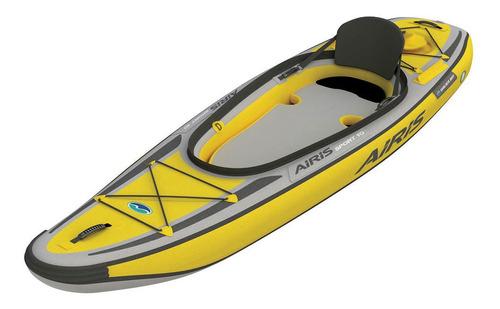 Imagen 1 de 4 de Kayak Inflable Americano Walker Bay Mochila Inflador Asiento