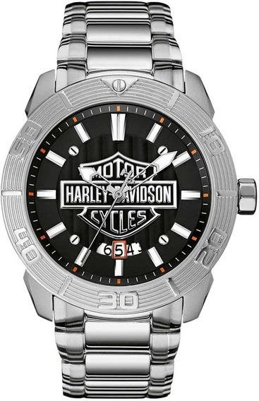 Relógio Bulova Masculino Harley Davidson Wh30546t