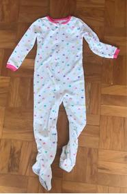 1174c7cece2037 Pijama Macacão Com Pé Infantil Tam 7 Carters Importado