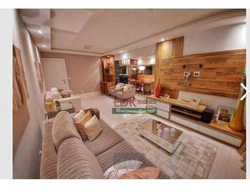 Imagem 1 de 17 de Apartamento Com 3 Dormitórios Para Alugar, 115 M² Por R$ 5.620/mês - Jardim Aquarius - São José Dos Campos/sp - Ap8627