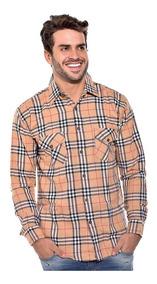 Camisa Social Xadrez Flanelada Gola Social Ref-soc-a