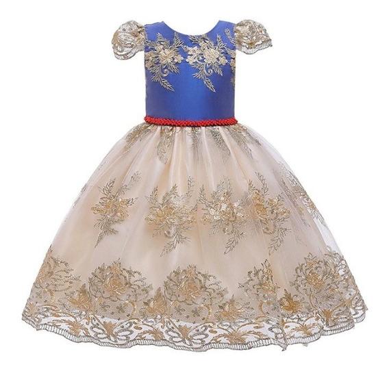 Vestido Fantasía De Princesa Bordado Fantasía