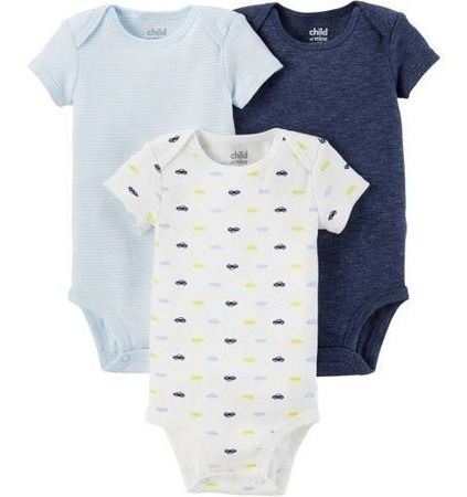 Kit Com 3 Body - Child Of Mine By Carters - Menino 18 Meses