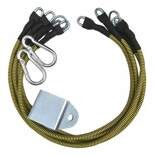 Imagem 1 de 4 de Elástico Para Exercícios Fittogo Cord 2conj Amarelo (avulso)